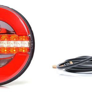 Gruppo ottico posteriore a LED rotondo senza freccia con retromarcia