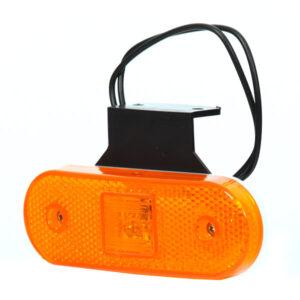 Fanale ingombro laterale arancione  full led universale 12V-24V con staffa W47