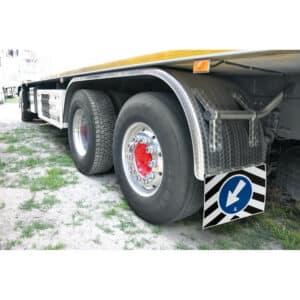 Coppia paraspruzzi camion in PVC – 35×30 cm
