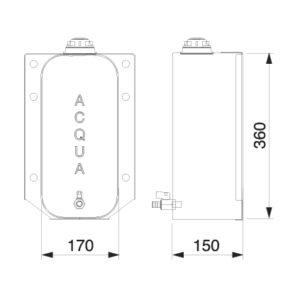 Tanica inox fiore lt. 10 per officina mobile