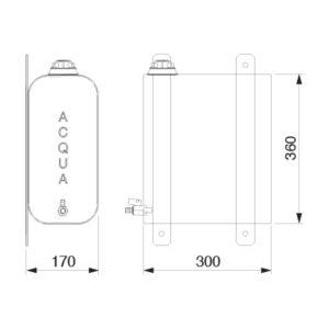 Tanica inox fiore lt. 20 per officina mobile