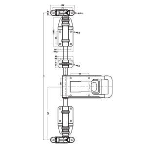 Chiusura esterna Alfa Inox per tubo Ø22