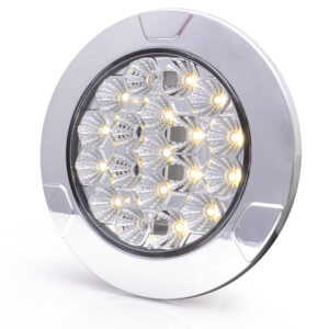 Luce di retromarcia/plafoniera interna a nido d'ape interno cromato a LED LW12