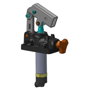 """Pompa a mano in ghisa serie """"25"""" da 22,5 cc/ciclo, con rubinetto Per cilindri a semplice effetto."""